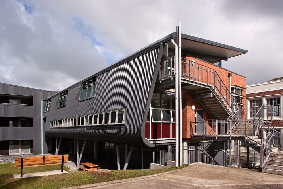 TD Structures - Brewer Davidson - Takapuna Grammar Library/Classroom Building
